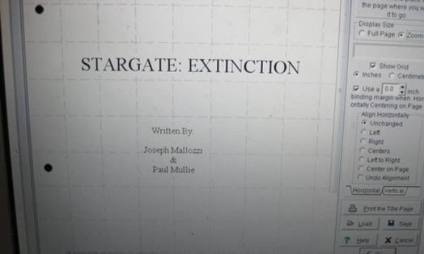 Scénář k filmu Stargate: Extinction