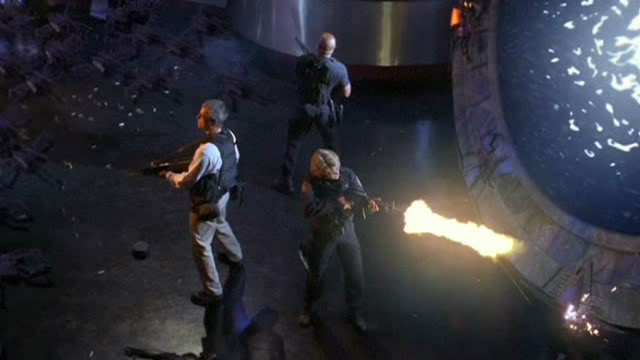 SG-1 těsně před únikem z Biliskneru