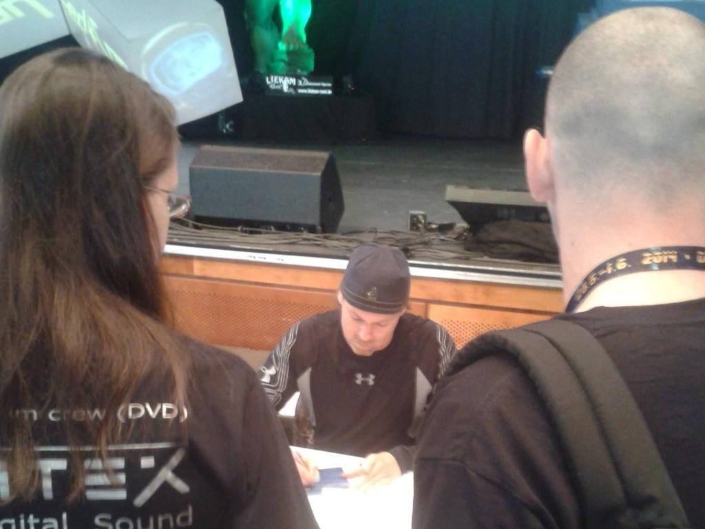 Michael Shanks na autogramiádě