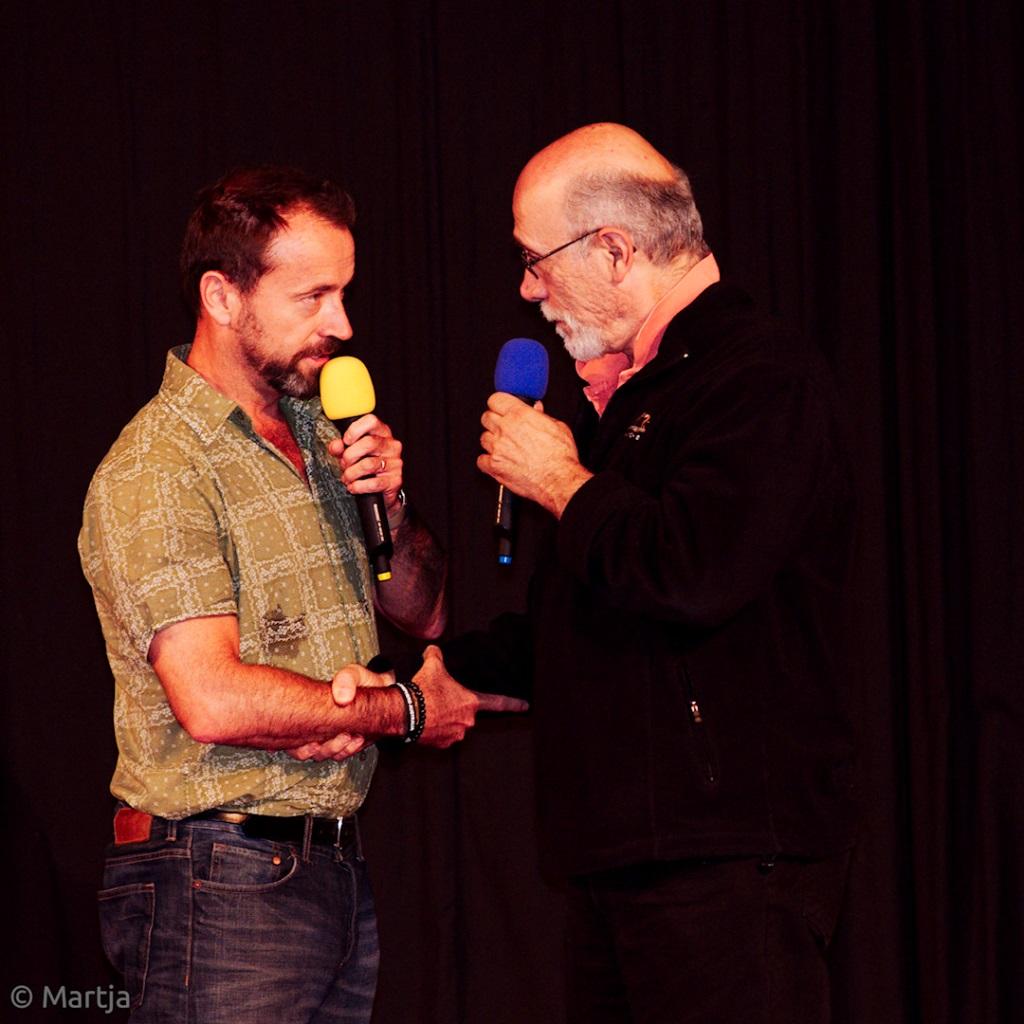 David se s Tonym pozdravil jako praví Jaffové