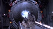 První spatření iris a překvapený SG-1 tým