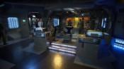 Zadní část můstku lodi 304
