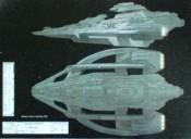 Schéma mimozemské lodi z alternativní reality