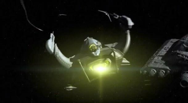 Útočná loď mimozemšťanů z alternativní reality
