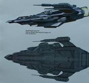 Schéma mimozemské útočné lodi z alternativní reality