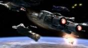 Generační loď Cestovatelů v bitvě o Asuras