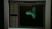 Únikový modul Martinovy lodi na monitoru