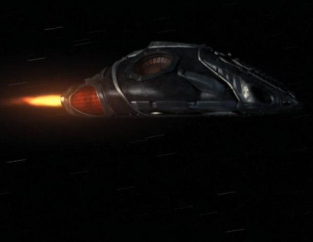 Útočná loď modrých mimozemšťanů