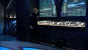 Konzole s obrazovkami na orijské válečné lodi