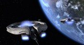 Podsvětelný pohon orijské válečné lodi
