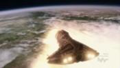 Raketoplán vlétává do atmosféry Edenu