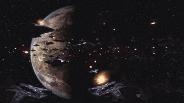 Flotila modifikovaných Ha'taků pod kontrolou replikátorů