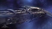 Rozsévací loď vystupuje z FTL