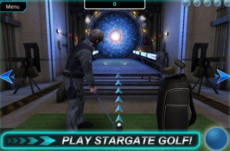 Screen z minihry Stargate Golf