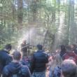 Štáb natáčí v lese