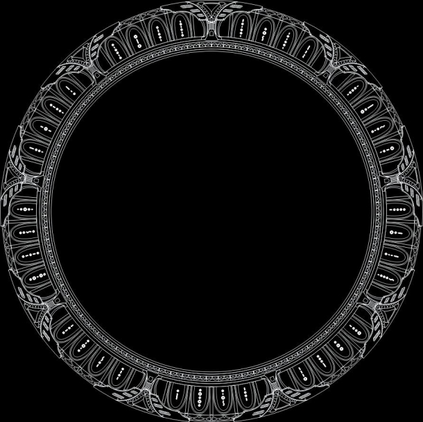 Rozložení symbolů na hvězdné bráně Destiny