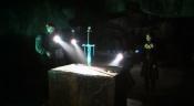 Holografický meč v kameni mohla vytáhnout jen způsobilá osoba