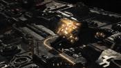 Štít raketoplánu při zásahu
