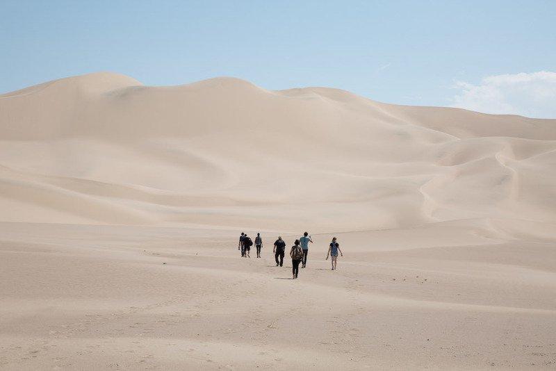 Hledání vhodné lokace v poušti